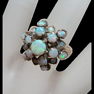 Vintage Opal 18kt Gold Princess Ring