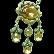 Antique Festoon Citrine Necklace