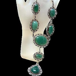 Vintage Adventurine Festoon Necklace