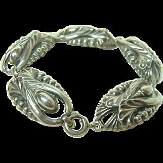 Art Nouveau Sterling Silver Bracelet
