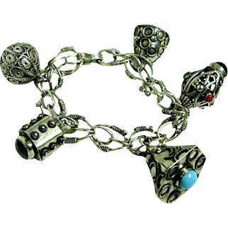 Vintage Bold Italian Charm Bracelet