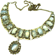 Vintage Ethnic Moonstone Necklace