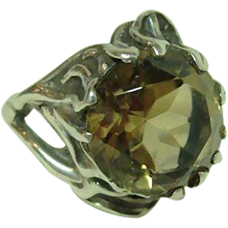 Vintage Hand Made Topaz Ring