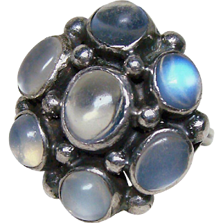 Arts and Crafts Moonstone Ring
