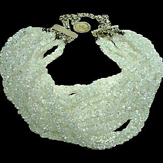 Estate Rock Crystal Necklace
