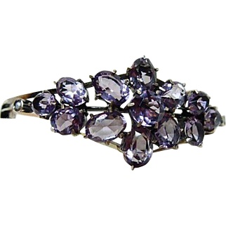 Edwardian Amethyst and Seed Pearl Bracelet