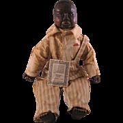 Folk Art Black Americana Wood Resin Doll By Maynard Arnett Farm Kid Dandy 1929/4000