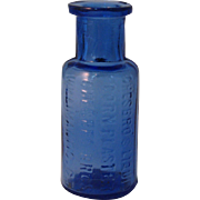 "Rare Chesbro's liquid Corn Plaster Sample Size 2"" Cobalt Blue Bottle circa 1900's"