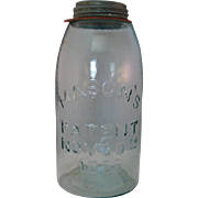 Mason's Aqua Canning Fruit Jar – Mason's Patent Nov. 30th 1858 – circa 1860