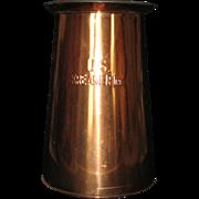 Large Copper Pitcher Marked US Kreamer Inc. 4 QT