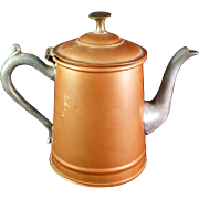 Rare Vintage Sweeneyware Copper Teapot by Sweeney Mfg of New York