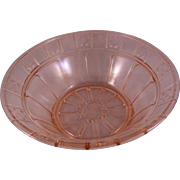 "Doric Pink Depression Glass Berry Bowl 8 1/4"" by Jeanette Glass Co.  1935-1938"