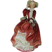 "Vintage Royal Doulton Figurine ""Top of the Hill"" 7"" - HH1334 JP - Signed Bone China"