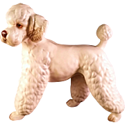 White Standard Poodle Dog Figurine by Lefton R7328  Made in Japan circa 1960's
