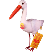 Steiff Adebar the Stork Tags and Button - New in Original Box c1991