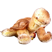 Steiff Turtle Slo c1970  2450/10 Tags and Button