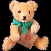 "Orange Mohair 7"" Jointed Hermann Teddy Original – Green Tag"