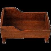 Vintage Miniature Toncoss Dollhouse Wood Cradle