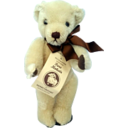 """Vintage Blonde 11"""" Mohair Merrythought Bear Signed and #'s Limited Edition England."""