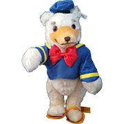 "1993 Steiff Walt Disney Donald Duck Bear 15"" 6th 651205 Ltd 1043/1500"