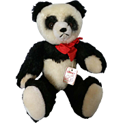 """Grisly Panda 11"""" Stuffed Bear – 100% Mohair, fully jointed c1970"""