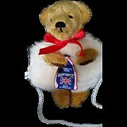 Merrythought Teddy Bear Hand Muff and Purse - Ironbridge Shropshire England c1970's