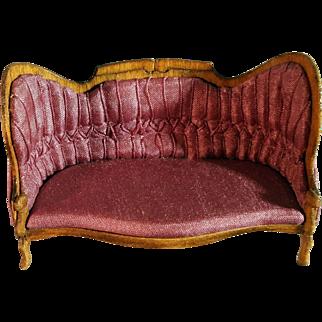 Salon chair Miniature Artist Made Upholstered signed 1987