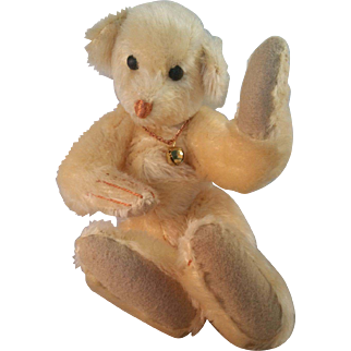 Wonderful OOAK Artist made Mohair Lucky #7 Arctic White Bear 1987 by Elva