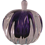 Rare Josh Simpson Amethyst Center and Clear Perfume Bottle - signed Simpson & dated 1985