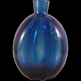 Vintage Cobalt Blue Art Glass Vase or Flask