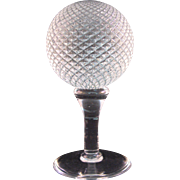 Interesting Golf Ball on a Tee - Art Glass Sculpture Paperweight - 1970's