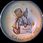 """1983 SCHMID Christmas Collector Plate by Berta Hummel """"Angelic Messenger"""""""