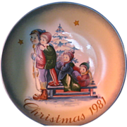"1981 Schmid Christmas Collector Plate by Berta Hummel ""A Time to Remember""  11th Edition"