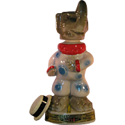 Jim Beam Republican GOP Elephant Clown Liquor Decanter - Empty 1968 Kentucky Straight tags