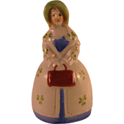 Porcelain Southern Lady Bell made in Japan
