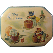 Vintage Three Little Kittens Lost their mittens Tin made in England