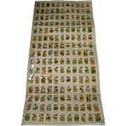 165 Uncut Sheet of Imperial Tobacco Silk Cigarette Animal & Country Flags – 3 complete sets