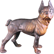 Vintage Hubley Cast Iron Doorstop or bookend Boston Terrier Bull dog