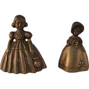 English Brass Young Girl Bell – set of 2