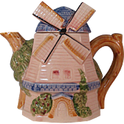 Vintage Cottage ware Dutch windmill Teapot Made in Japan circa 1930's