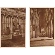 2 Westminster Abbey Real Photo Postcard by Raphael Tuck & Sons Late 1800's