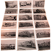 21 Vintage Train Picture Post Cards NY and NJ Rail Road Cars by Etch tone