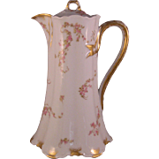 Haviland & Co. Limoges Chocolate Pot & Lid Mixed Pattern - 1889-1896