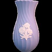 Wedgwood Blue Jasperware Porcelain Vase England late 20th century