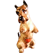 Rare Royal Doulton Scottish Terrier Dog Miniature K10 Sitting Pretty #761