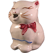 Puss n Boots Cat Collectible Ceramic Creamer 1940's Shawnee Pottery