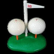 Plastic Golf Ball Salt and Pepper Shaker 1940's Mid Century