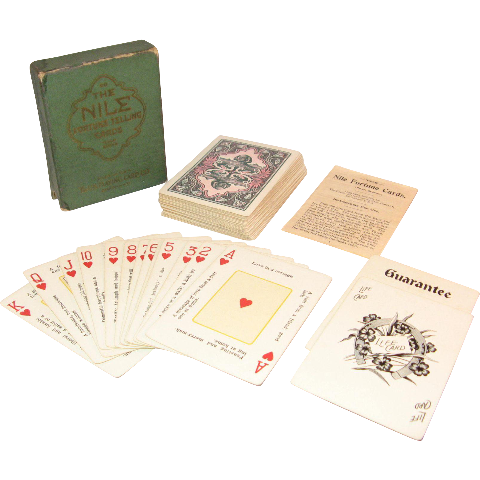 The Nile Fortune Cards Deck Of Cards In Original Box Early