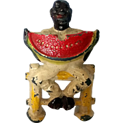 Manoil Black Man Eating Watermelon #41/14 Happy Farm Series Lead Hand Painted