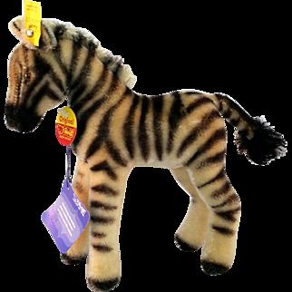 """Steiff Mohair Zebra 8"""" Standing 1420/22 c1970"""